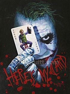 The Joker Heath Ledger the Dark Knight Batman art by billpruittart, $15.00