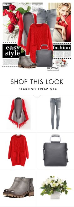 """Red and grey"" by clumsy-dreamer ❤ liked on Polyvore featuring Dolce&Gabbana and Dondup"