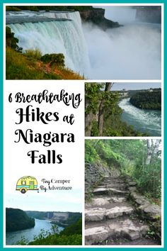6 Hiking Trails in Niagara Falls NY that are too breathtaking to miss! With miles of hiking trails, the waterfalls aren't the only reason to visit Niagara Falls State Park. Here are 6 hiking trails at Niagara Falls NY you won't want to miss. Niagara Falls Vacation, Visiting Niagara Falls, Niagara Falls Ny, Niagara Falls Camping, New York Travel, Travel Usa, State Parks, Autumn In New York, Beautiful Waterfalls