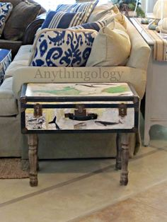 Anythingology: Vintage Suitcase Makeover