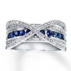 White Gold Diamond & Natural Sapphire Ring…i'm so getting this on our anniversary Natural Sapphire Rings, Emerald Rings, Ruby Rings, Halo Rings, Diamond Rings, Just In Case, Just For You, Do It Yourself Jewelry, Anniversary Jewelry