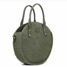 For most ladies, buying a genuine designer bag is not really something to hurry into. Because these handbags can be so expensive, women sometimes worry over their selections before making an actual ladies handbag acquisition. (Re:Womens Barrel Bag.Tussa E Crochet Tote, Crochet Handbags, Crochet Purses, Barrel Bag, Crochet Circles, Round Bag, Cute Bags, Knitted Bags, Crochet Accessories