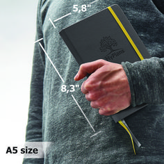 weekly monthly planner and organizer - non-dated appointment book with dotted pages for notes - cool accessories for men