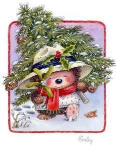 Christmas Tree, Holly, and Mistletoe