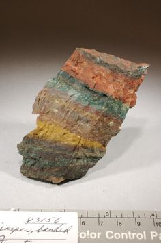 color banded red, green, brown and ocher Jasper Rock, Minerals, Objects, Miniatures, Band, Green, Color, Sash, Colour