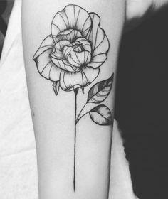 Rose tattoo blackwork