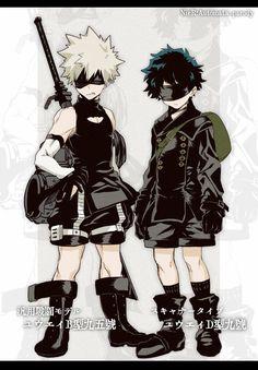 Boku no Hero Academia x NieR:Automata || Cross-Over [ Katsuki Bakugou, Midoriya Izuku. ]