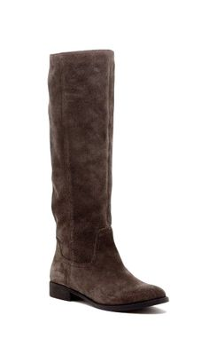 Women's Ash Suede 1 Inch Slouchy Tall Suede Boot