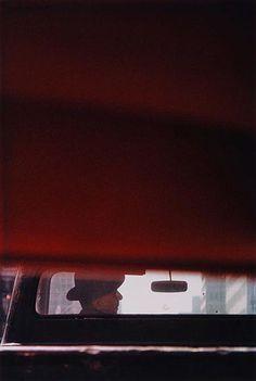 Photograph by Saul Leiter. #portrait #negative_space #profile