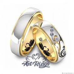 Свадебные фотоальбомы ручной работы. Обручальные кольца парные Арт 998. Обручальные  кольца Art-Rings ce6703abb73