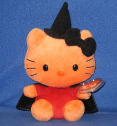 TY HELLO KITTY HALLOWEEN WITCH - MINT with MINT TAGS #TYBeanieBabies