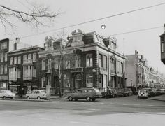 Politiebureau op de hoek Overtoom-Vondelkerkstraat Foto: Beeldbank van het Stadsarchief van de gemeente Amsterdam, 4 maart 1969