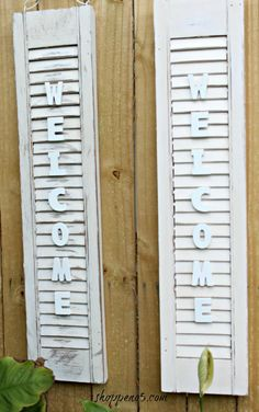 Shutter Crafts On Pinterest Shutters Old Shutters And Repurposed Shutters