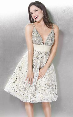 Jovani 171741 Deep v neckline cocktail dress features beading embellishment  on the bust Tulle waist belt and lace skirt with sequin detailing throughout 0530b2c46fa1