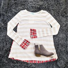 Millie Striped Top in Plaid