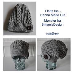 Denne luen heter Hanna Marie Lue og er ei lue som jeg har strikket etter oppskrift fra boken: Luer S...