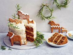 Jouluinen porkkanakakku   Valio 20 Min, Tiramisu, Food And Drink, Birthday Cake, Dishes, Baking, Ethnic Recipes, Desserts, Christmas
