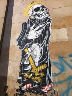 SCOTTISH STREET ART: Sauchiehall Street, Glasgow. bulletbeardisdead