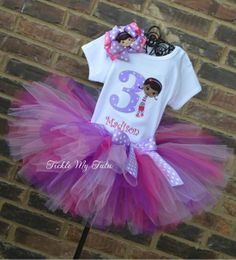 Doc McStuffins Inspired Birthday Tutu Outfit