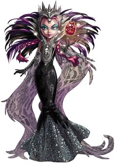 Raven Queen as The Evil Queen San Diego Comic-Con Exclusive Ever After High Doll Illustration, 2015