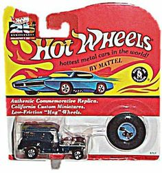 Hot Wheels - 25th Anniversary Collector's Edition - Paddy Wagon (Colors Vary) - Basic Wheel Hubs - Authentic Commemorative Replica w/Matching Collector's Button by Mattel, Inc.. $8.75