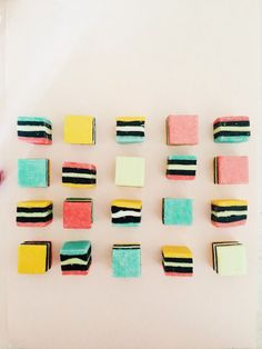Licorice Allsorts Repeated Pattern #pattern #candy