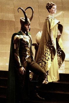 Tom Hiddleston and Rene Russ as Loki and Frigga in Thor, The Dark World Loki Thor, Loki And Frigga, Loki Laufeyson, Thomas William Hiddleston, Tom Hiddleston Loki, Marvel Dc, Loki God Of Mischief, Marvel Photo, Videogames