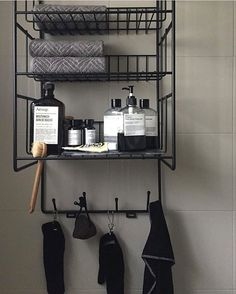 The perfect bathroom shelf! Triple shelf is available in both black and white! Photo by our South Korean shop @rooming