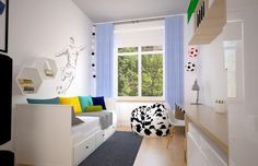 Kleines Kinderzimmer Einrichten Ideen Junge Fussball Fan Deko