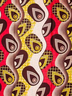 African Fabric Print Super Wax 6 Yards 100 by Africanpremier