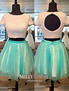 Shop Tulle Satin Short/Mini Two Piece Short Sleeves Homecoming Dress UK at FansFavs. Choose from a range of Short Prom Dresses online. Modest Formal Dresses, Formal Dresses Online, Formal Dresses For Teens, Hoco Dresses, Tulle Prom Dress, Simple Dresses, Party Dress, Evening Dresses, Amazing Dresses