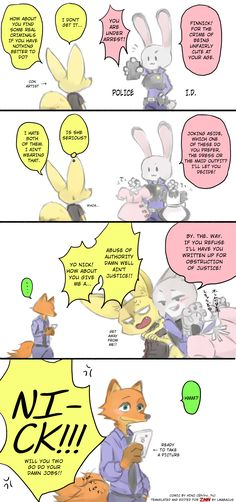 Comic: Abuse of Authority (Original by Hino) - Zootopia News Network