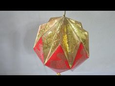 CNY TUTORIAL NO. 16 - How to make Red Packet (Hongbao) Ornamental Ball - YouTube