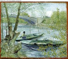 """Fishing in Spring""  Vincent Van Gogh"
