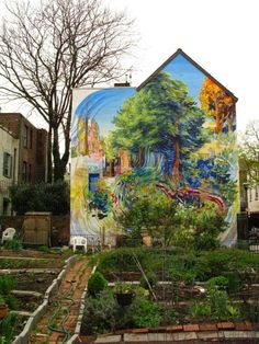 Street art in Philadelphia, USA. Photo by SLOWEPOKE (via Paint up).