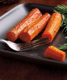 Crockin' Carrots. They are made of whole carrots, thyme, rosemary, oil & vinegar, and brown sugar.