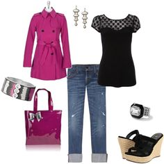 pop of color, created by lbstyle.polyvore.com