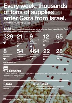 79 Football Fields Long: 1,138 Trucks Entered Gaza This Week
