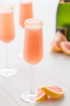 The winter citrus is best served with a side of champagne.