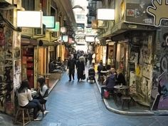 A view of Centre Place, Melbourne. Alleyways embody a universe. I know that we could do this in Baltimore. We have the alleyways, the right scale. Just not the courage or imagination--yet.