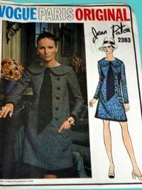 Vogue Paris Original 2383; ca. 1970; Jean Patou - MISSES' DRESS. Loose-fitting…