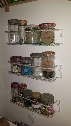 Inexpensive but pretty storage with help of washi tape