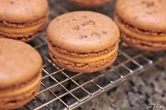 Salted Caramel Macarons  (chocolate macarons sprinkled with smoked sea salt and filled with salted caramel buttercream)  Tasty Kitchen: A Happy Recipe Community!