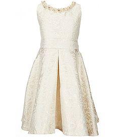 *Amelia* Dillards Rare Editions Big Girls 716 Brocade FitandFlare Dress #Dillards