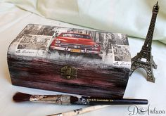 Wooden jewelry box Elegant gift . decoupage box shabby by ArtDidi
