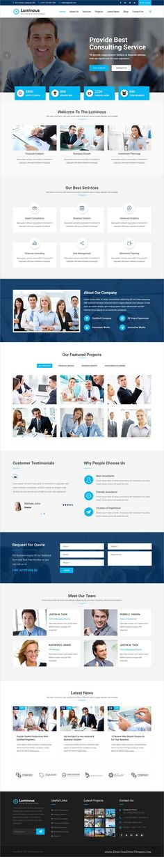 Luminous is clean and modern design responsive #HTML5 template for #financial business and #consulting services website to live preview & download click on Visit