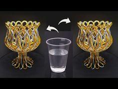 Ide Kreatif Gelas plastik jadi wadah serba guna | Plastic Cup Used DIY Ideas - YouTube Plastic Bottle Art, Recycle Plastic Bottles, Plastic Recycling, Wire Crafts, Diy And Crafts, Recycled Bottles, Creative Crafts, Upcycle, Tableware