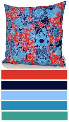 Inspire cushion cover is created for inspiration and wandering! The combination of dreamy blue and simple orange in this fine floral pattern design is amusing! It will be perfect design element for young and creative people. http://www.sunburstoutdoorliving.com/collections/online/products/inspire-cushion-cover-60cm