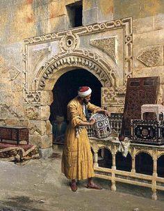 The Oriental Furniture Maker - Egyptian Art - Arabic Art - Handmade Oil Paintings On Canvas Empire Ottoman, Kairo, Arabian Art, Oriental Furniture, Islamic Paintings, Ludwig, Historical Art, Egyptian Art, Classical Art