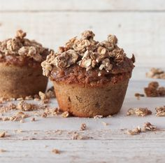 Dairy Free Spiced Apple Crumble Muffins